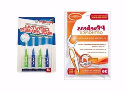 Plackers OrthoPick Floss for Braces 36 Pack & 4 Plackers Den