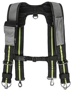 Padded Tool Belt Suspenders w/Phone Pocket, Chest Strap, Pen