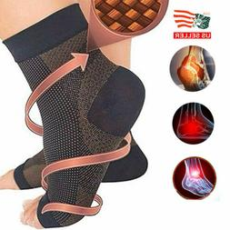 Pairs Magnetic Copper Compression Relief Ankle Support Brace