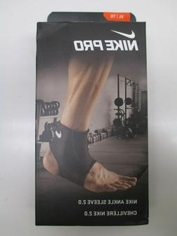 Nike Pro Ankle Sleeve 2.0 Black Size XL Compression Support
