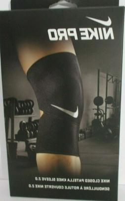 Nike Pro Combat Closed-Patella Knee Brace Sleeve 2.0 Large N