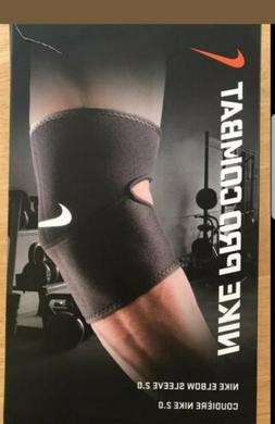 Nike Pro Combat Elbow Sleeve 2.0 Black Size  L XL Compressio