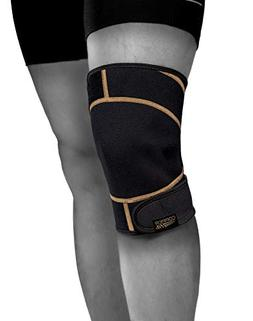 Copper Fit Rapid Relief Knee Wrap with Hold/Cold Therapy