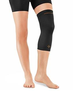 Tommie Copper Women's Recovery Refresh Knee Sleeve, Black, L