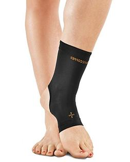 Tommie Copper Women's Recovery Thrive Ankle Sleeve, Black, M