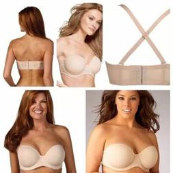 WACOAL RED CARPET FULL BUSTED STRAPLESS BRA  #854119 SIZE 36