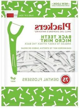 PLACKERS Right Angle Easy Flossing, Mint 75 ea