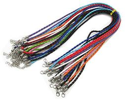 thingpad 3.0mm Round Folded Bolo PU Braided Leather Cord For