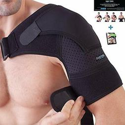 Shoulder Brace For Men And Women+ Bonus - Torn Rotator Cuff