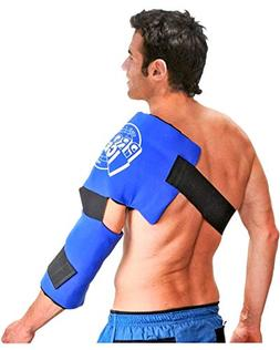 Pro Ice Adult Shoulder and Elbow Real Ice Pack Wrap Wearable