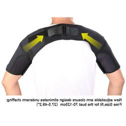 Sports Double Shoulder Brace Support Strap for Sprain Tendin