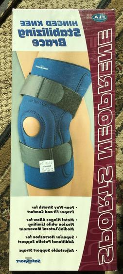 FLA ORTHOPEDICS SPORTS NEOPRENE HINGED KNEE STABILIZING BRAC