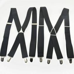 Trendy Men's Suspenders 4 Clips Elastic Adjustable Braces Me