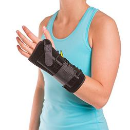 BraceAbility Lace up Wrist Immobilizer | Cock-up Splint for