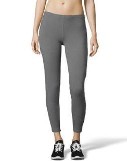Hanes Womens Stretch Jersey Leggings Black or Charcoal New