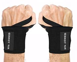 "Rip Toned Wrist Wraps 18"" Professional Grade with Thumb Loop"
